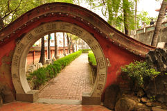 Entrada do templo de Chihkan. Tainan, Taiwan Fotografia de Stock