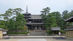 Entrada do templo do ji de Horyu em Japão Imagem de Stock