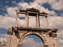 Entrada do templo dos Zeus imagem de stock
