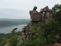 Entrada dos diabos no parque estadual do lago devils Imagens de Stock