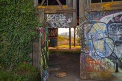 Entrada dos grafittis Fotografia de Stock