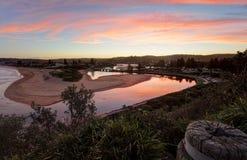 Entrada dos lagos Narrabeen Imagem de Stock Royalty Free