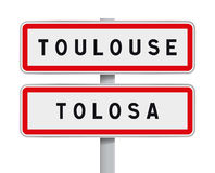 Entrada dos sinais de estrada de Toulouse ilustração royalty free