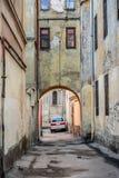 Entrada em Lviv velho Fotografia de Stock Royalty Free