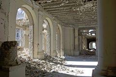 Entrada en Darul Aman Palace, Afganistán Imagen de archivo