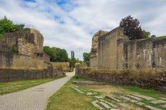 Entrada en del anfiteatro romano imagenes de archivo