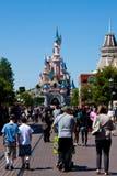 Entrada en Disneylandya París Fotografía de archivo libre de regalías