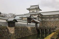 Entrada en el castillo de Kanazawa en Kanazawa, prefectura de Ishikawa, Jap?n foto de archivo