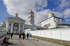 Entrada en el Dormition santo Pochaev Lavra Imagen de archivo