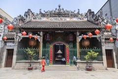 Entrada en el templo chino Fotografía de archivo libre de regalías