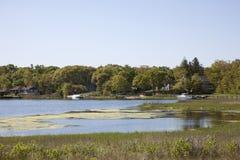 Entrada en la bahía de Noyack Fotografía de archivo libre de regalías