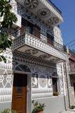 Entrada en la ciudad del pyrgi, Grecia imágenes de archivo libres de regalías