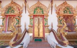 Entrada en la iglesia budista Imágenes de archivo libres de regalías