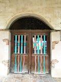 Entrada en la misión San Miguel Arcangel Imágenes de archivo libres de regalías
