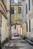 Entrada en Lviv viejo Fotografía de archivo libre de regalías
