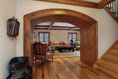 Entrada en sala de estar de lujo Imagenes de archivo