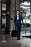 Entrada entrando do hotel do executivo empresarial Imagens de Stock