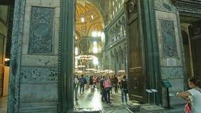 Entrada Estambul de Hagia Sophia Interior metrajes