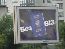 A entrada a Europa - regime visto-livre para Ucrânia imagem de stock royalty free