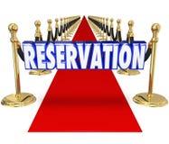 Entrada exclusiva do acesso do clube do restaurante do tapete vermelho da reserva nós ilustração do vetor