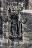 Entrada flaca Lancaster de la estatua del ` de piedra de Juan O Foto de archivo