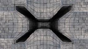 Entrada futurista metálica del túnel del espacio Ilustración del Vector