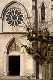 Entrada gótica de la catedral Imagenes de archivo