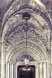 Entrada gótica de la iglesia Foto de archivo libre de regalías