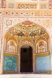 Entrada a Ganesh Pol en Amer Palace foto de archivo