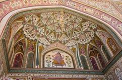 Entrada a Ganesh Pol en Amer Palace fotos de archivo