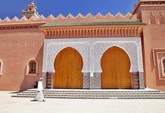 Entrada hermosa a la mezquita, Zagora, Marruecos Foto de archivo libre de regalías