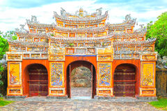 Entrada Hien Lam Pavilion fotografia de stock