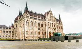A entrada húngara nacional da construção do parlamento Foto de Stock