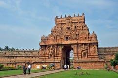 Entrada II do templo de Brihadeeswara, Thanjavur Fotos de Stock