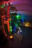 Entrada iluminada na noite fotos de stock royalty free