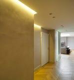 Entrada interior, amarela Fotografia de Stock Royalty Free
