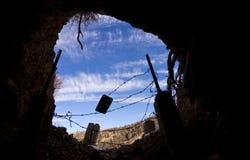 Entrada interior de la mina Imagen de archivo libre de regalías