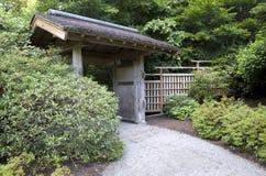 Entrada japonesa de la casa Fotografía de archivo libre de regalías