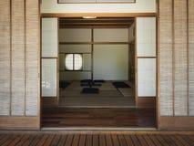 Entrada japonesa del sitio del té Imagenes de archivo