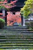 Entrada japonesa del templo Foto de archivo libre de regalías