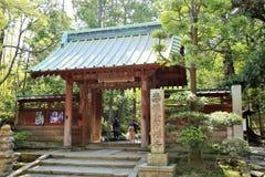 Entrada japonesa del templo Fotos de archivo