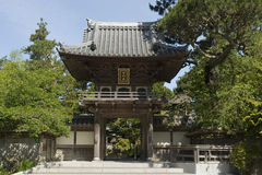 Entrada japonesa do jardim de chá fotos de stock royalty free