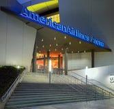 Entrada a la arena de American Airlines en el Midtown Miami Foto de archivo libre de regalías