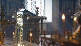 Entrada a la arquitectura de la iglesia almacen de video