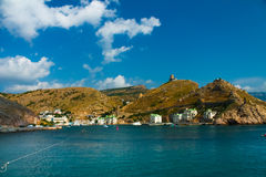 Entrada a la bahía de Balaklava Imagenes de archivo