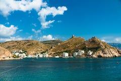 Entrada a la bahía de Balaklava Fotos de archivo