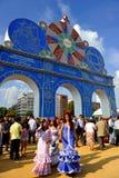 Entrada a la feria en Sevilla, Andalucía, España Fotografía de archivo libre de regalías