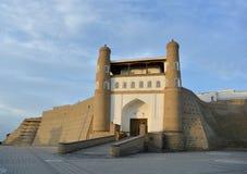Entrada a la fortaleza de la arca (Bukhara) Imágenes de archivo libres de regalías