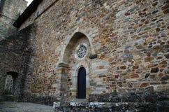 Entrada a la iglesia de Villafranca del Bierzo Leon Spain Fotografía de archivo libre de regalías