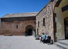 Entrada a la iglesia en el monasterio de Khor Virap Fotos de archivo